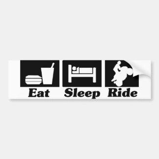 Eat Sleep Ride Sticker Bumper Sticker