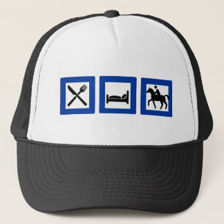 eat sleep ride trucker hat