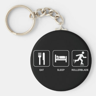 Eat Sleep Rollerblade Keychain