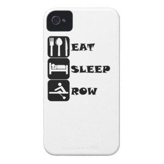 Eat Sleep Row iPhone 4 Case-Mate Cases