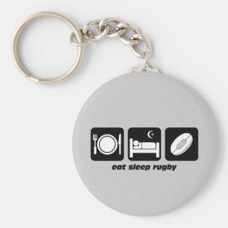 eat sleep rugby key ring