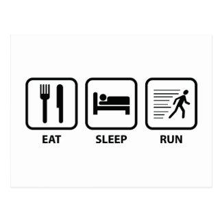Eat Sleep Run Post Cards