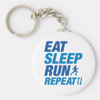 Eat Sleep Run Repeat Basic Round Button Key Ring