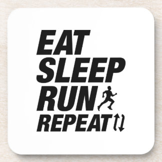 Eat Sleep Run Repeat Coaster
