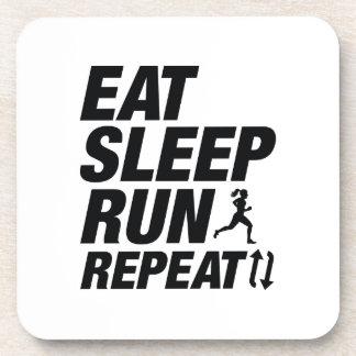 Eat Sleep Run Repeat Drink Coaster