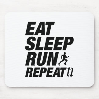 Eat Sleep Run Repeat Mouse Pad