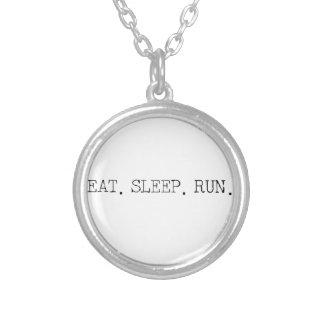Eat Sleep Run Round Pendant Necklace