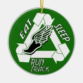 Eat Sleep Run Track ORNAMENT