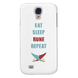 Eat Sleep Rune Repeat Galaxy Case