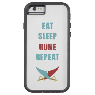 Eat Sleep Rune Repeat iPhone Case