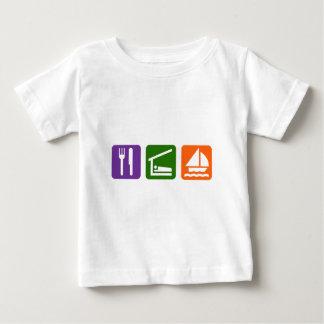 Eat Sleep Sailing Baby T-Shirt