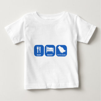 Eat Sleep Saudi Arabia Baby T-Shirt