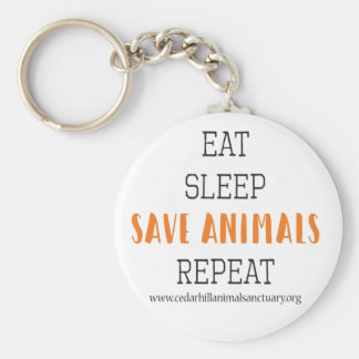Eat Sleep Save Animals Key Ring
