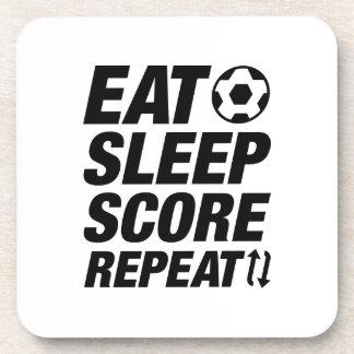 Eat Sleep Score Repeat Drink Coasters