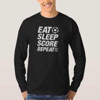 Eat Sleep Score Repeat T-Shirt