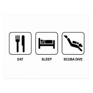 Eat Sleep Scuba Dive Postcards