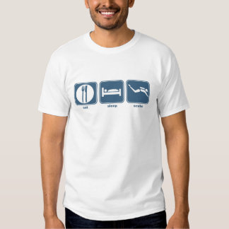 eat, sleep, scuba t-shirt