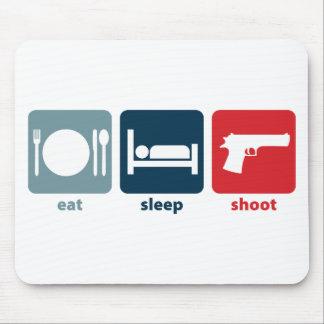 Eat, Sleep, Shoot Mouse Pad