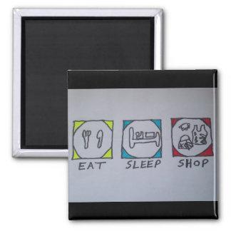 eat,sleep,shopping fridge magnet