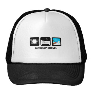 eat sleep shovel mesh hat