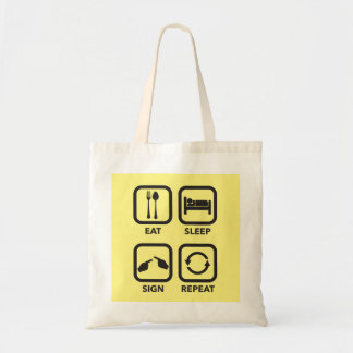 Eat. Sleep. Sign. Repeat.  ASL tote bag
