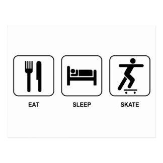 Eat Sleep Skate Postcard
