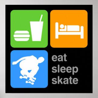 Eat Sleep Skate Poster