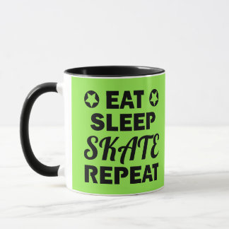 Eat Sleep Skate Repeat, Roller Derby Mug