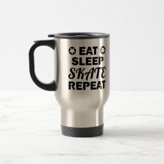 Eat Sleep Skate Repeat, Roller Derby Travel Mug