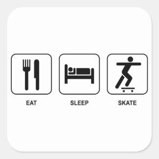 Eat Sleep Skate Square Sticker