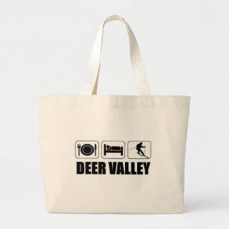 Eat sleep ski deer valley jumbo tote bag