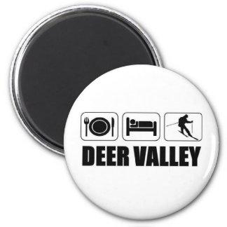 Eat sleep ski deer valley magnet