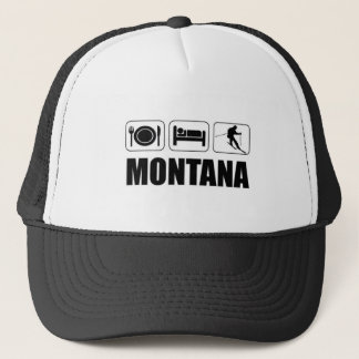 Eat Sleep Ski Montana Trucker Hat