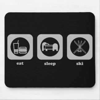 Eat. Sleep. Ski. Mousepad