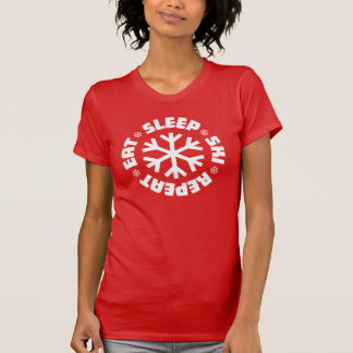 Eat Sleep Ski Repeat (white graphic) T-Shirt