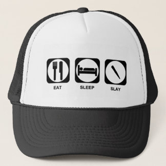 Eat Sleep Slay Color Customizable Trucker Hat