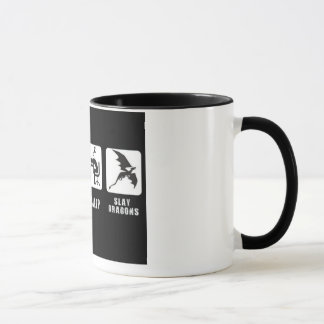 Eat, Sleep, Slay Dragons. Mug