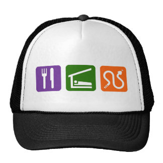 Eat Sleep Snakes Trucker Hats