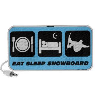 eat sleep snowboard mini speaker