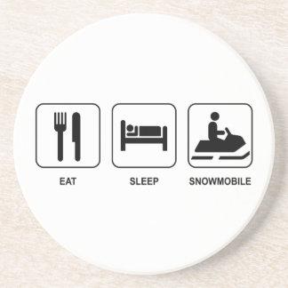 Eat Sleep Snowmobile Coaster