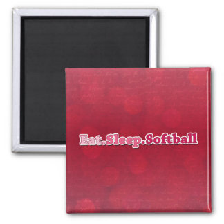 Eat Sleep Softball Square Magnet