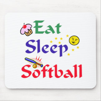 Eat Sleep Softball Mouse Mat