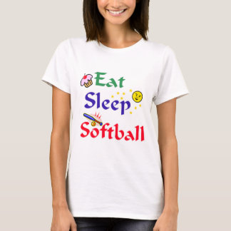 Eat Sleep Softball T-Shirt