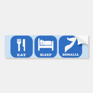Eat Sleep Somalia Bumper Sticker