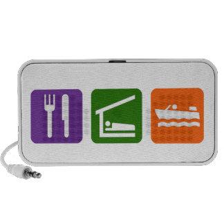Eat Sleep Speed Boating Notebook Speaker