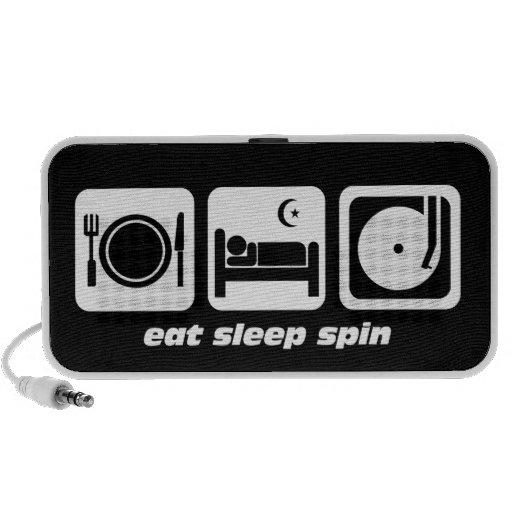 eat sleep spin mini speaker