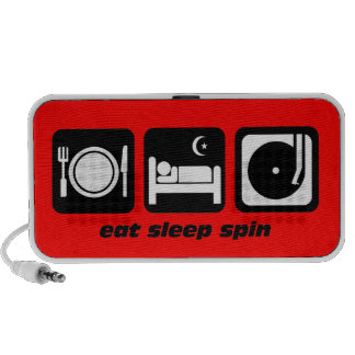 eat sleep spin speakers