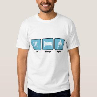 Eat, Sleep , Spin Tshirts