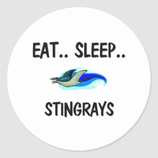 Eat Sleep STINGRAYS Classic Round Sticker