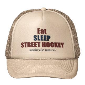 Eat sleep street hockey cap